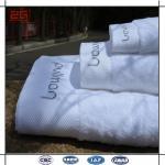 16S escolhem toalhas de banho do hotel do laço com logotipo do jacquard/bordado