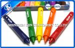 9.5cm 10 Colors Water soluble Non Toxic Crayons In Tin Box For Promotion
