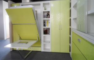 China Vertical Space Saving Murphy Bed  Light Yellow with Dinning Table 6 Patents on sale