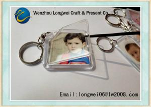 China Mini Clear Acrylic Photo Engraved Key Chain Personalized Plastic on sale