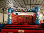 Simple Kids Inflatable Bounce House For 5-6 Children Outside Inflatable Balloon Painting Jump House