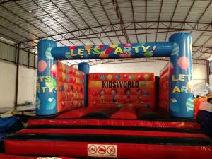 China Simple Kids Inflatable Bounce House For 5-6 Children Outside Inflatable Balloon Painting Jump House on sale