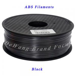 China 3D printing consumables Black abs filament for Makerbot Mendel Printrbot Reprap on sale