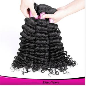 China Peruvian Hair Weaving Deep Wave Natural Color Black for Women Unprocessed Virgin Hair on sale