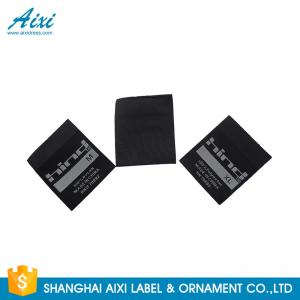 China Polyester Satin And Fabric Clothing Label Tags , Garment Damask Woven Labels on sale
