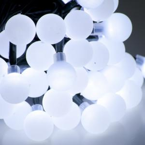30bulbs outdoor led round ball christmas lights white ball string