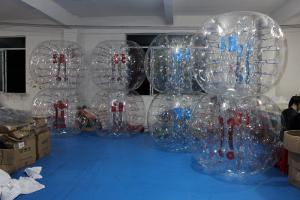 China Clear bumper ball inflatable bubble soccer 0.8mm PVC 1.5m diameter supplier