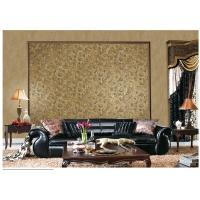 Brown Contemporary Damask Pattern Wallpaper Peelable With 1.06*10m Roll Size