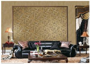 China Brown Contemporary Damask Pattern Wallpaper Peelable With 1.06*10m Roll Size on sale