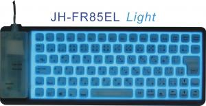 China Mini Size Flexible EL Usb Keyboard JH-FR85EL with cold light on sale