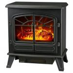 antique electric stove ND-181M double door electric fireplace heater log burning flame effect
