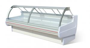 China Remote Type -1-5 ℃ Fresh Meat Food Display Cabinets Produce Display Coolers on sale