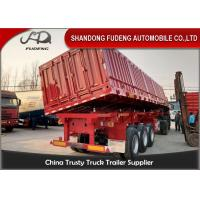 China Carbon Steel 45 Ton Tipper Semi Trailer For Sand / Stone / Bulk Cargo Transport on sale