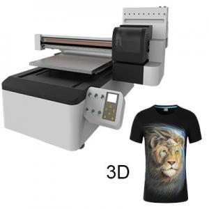China Glass, Plastic and All Materials Is No Problem, 3D Effect, Cheapest 60cm X 90cm UV Digital Printer on sale