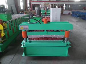 China PLC Control Roof Panel Roll Forming Machine 0.3-0.8mm Profile Thickness on sale