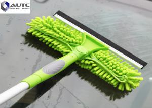 China Aluminium Glass Cleaning Brush Window Cleaner Rotatable Telescopic Housekeeping on sale