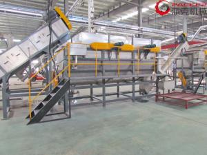 China PLC Plastic Bottle Recycling Machine , Plastic Recycling Washing Line 304 SUS on sale