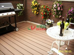 China garden wpc decking floor anti-slip,wood plastic flooring with long lifespan 20 years on sale