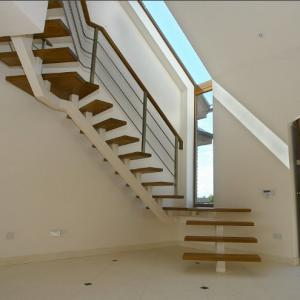 exterior metal stair/wrought iron straight stairs/outdoor straight ...
