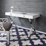 CHANNING DESK for living room or office room with wooden top