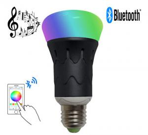 China MR RGBW LED Bluetooth Speaker Bulb Dimmable Multicolored Color Changing on sale