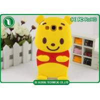 Winnie The Pooh Silicone Phone Cases Yellow Water Resistant Phone Cover
