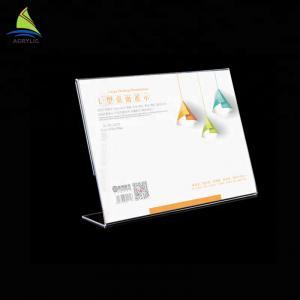 China Minimalist Acrylic Sign Display Holder Custom Table Tent Menu Holder Acrylic Sign Board on sale
