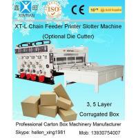 Corrugated Mechanical Carton Making Machine , Flexo Printing Machines 60Pieces/min