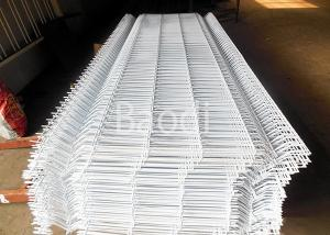 China Anti - Rust White Weld Mesh Fence / Welded Wire Mesh Fencing With Peach Post on sale