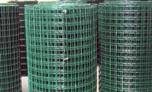 China PVC Coated Welded Wire Mesh|Green Color With 1/4 inch For Fencing Mesh on sale