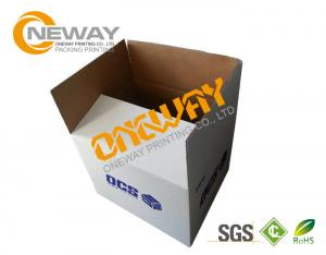 China Corrugated Paper Carton Printed Packaging Boxes UVI Hot - Stamping Glossy Surface on sale