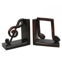 Study Room Music Themed Bookends / Eco - Friendly Music Note Bookends