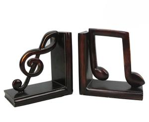 China Study Room Music Themed Bookends / Eco - Friendly Music Note Bookends on sale