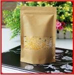 La catégorie comestible a adapté le papier aux besoins du client d'emballage de sacs en papier avec la fenêtre pour des haricots/riz