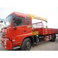Factory direct sale best price Dongfeng Tianjin 4*2 LHD 5ton straight crane truck, dongfeng 5tons cargo truck with crane