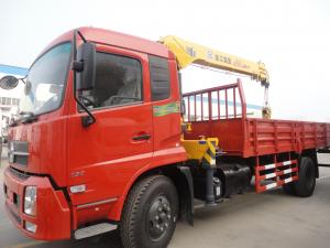 China Factory direct sale best price Dongfeng Tianjin 4*2 LHD 5ton straight crane truck, dongfeng 5tons cargo truck with crane on sale