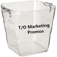 TOM104917 Transparent acrylic ice bucket for beer cold, Ice bucket, transparent ice bucket