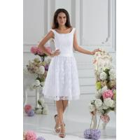 White Lace Scoop A Line Womens Cocktail Party Dresses for Young Girls / Ladies