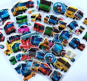 China 3D Cartoon Car Stickers Decorative Custom Puffy Stickers , 3D Cartoon Car Foam Stickers on sale
