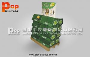 China Steady Eye Catching Paperboard Display Pallet Stands , Shipper Pallet For Dog Foods on sale