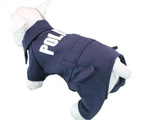 China 2015 Dog Pet Cat Sweater Hoodie Coat Jacket POLICE Puppy Clothes on sale