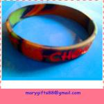 army mix color silicone wristband