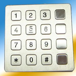 China Wearable Metal Stainless Steel Keypad Vandal Resistance With 2 Function Keys on sale