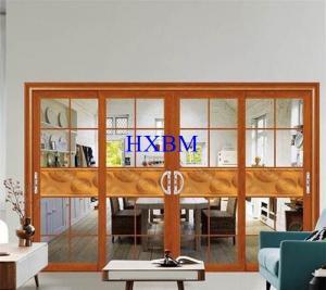 China Double Glazed Aluminum Sliding Doors With 2mm 120mm Depth Aluminum Profile on sale