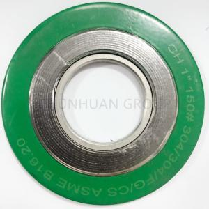 China Green ASME B16.20 Spiral Wound Graphite Filled Gasket on sale
