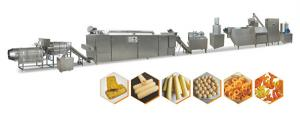 China Full Automation Puff Extruder Machine / Snack Food Processing Machinery on sale