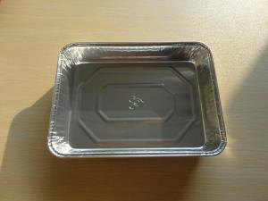 China Eco-Friendly Aluminum Rectangle Casserole Dish Container For Airline Meal on sale