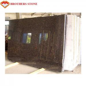 China Polished Tan Brown Flamed Granite Stone For Garden / Square / Park on sale