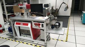 China 355 Nm Cable Laser Marking Machine Laser Energy Saving Marking Equipment on sale