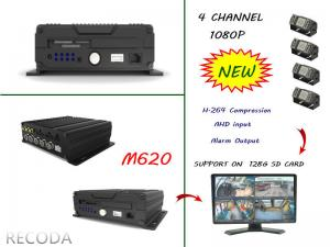 China RECODA M620 4 Channel 1080P full hd car dvr Support 3G , 4G , WIFI , GPS on sale